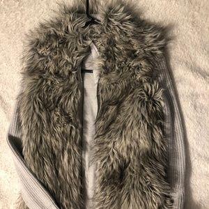 Express Faux Fur Sweater